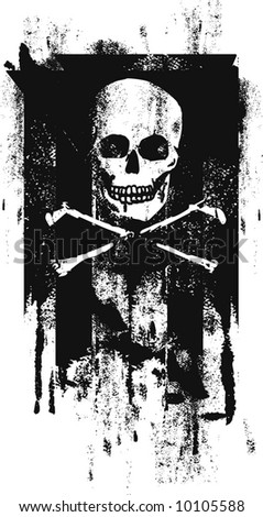 pirates paint roller flag - stock vector