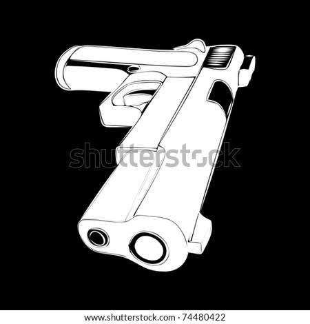 pistol - stock vector