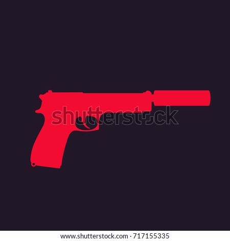 shooting club emblem sign crossed pistols stock vector