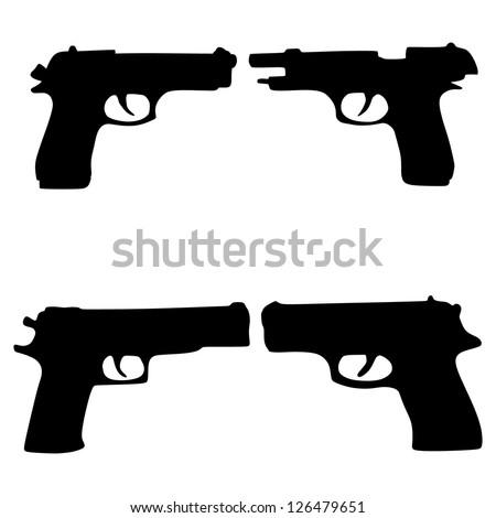 pistols - stock vector