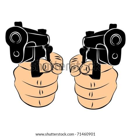 Pistols vector - stock vector