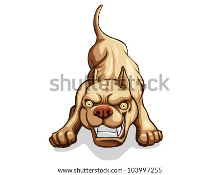 Pit bull red nose dog  vector illustration - stock vector