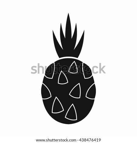 Pitaya, dragon fruit icon, simple style - stock vector