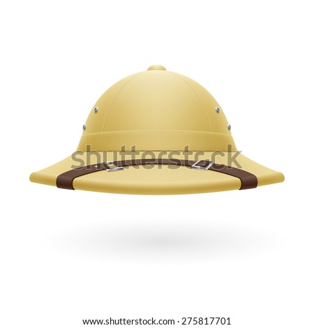 Pith helmet isolated on a white background - stock vector