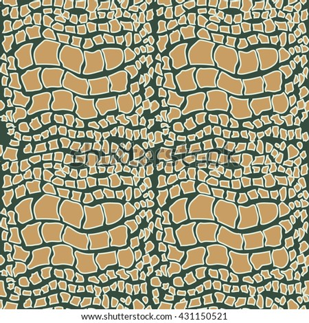 Piton skin. Abstract seamless vector pattern. Natural leather texture. Brown. - stock vector