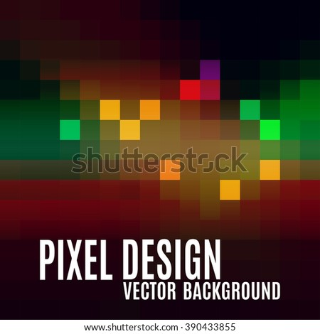 Pixel abstract background. Colorful mosaic. Modern vector design elements. - stock vector