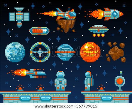 Arcade stock images royalty free images vectors for Retro space design