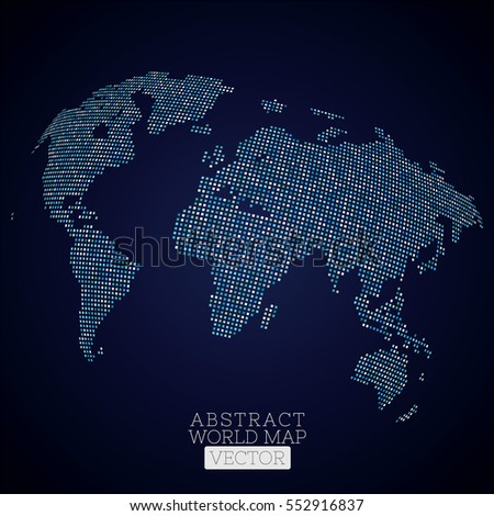 Pixel dot world map made blue stock vector 552916837 shutterstock pixel dot world map made from blue squares global technology concept gumiabroncs Images