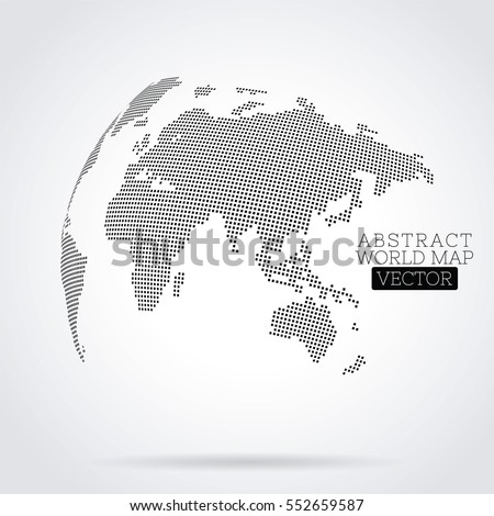 Pixel dot world map made squares stock vector hd royalty free pixel dot world map made from squares global technology concept gumiabroncs Image collections