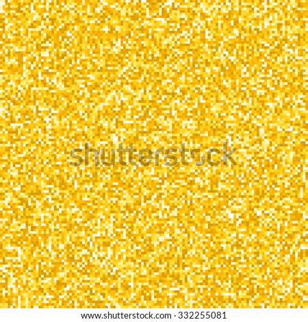 Pixel Gold Glitter Background. EPS8 Vector