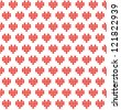 Pixel heart seamless pattern. Romantic background. Vector illustration - stock vector