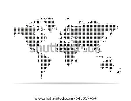 Pixel map world dotted world map stock photo photo vector pixel map of world dotted world map vector illustration gumiabroncs