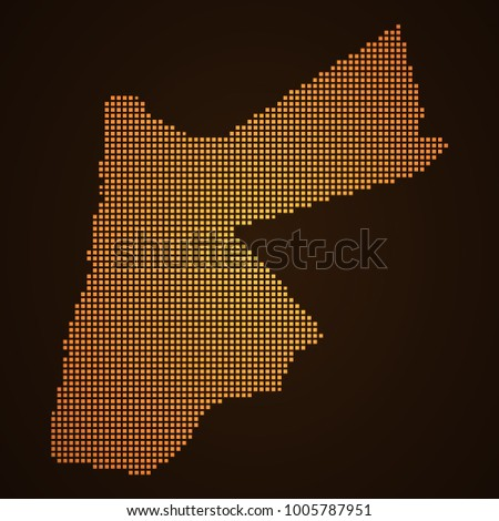 Pixel Mosaic Glow Orange Dot Map Stock Vector 1005787951 Shutterstock