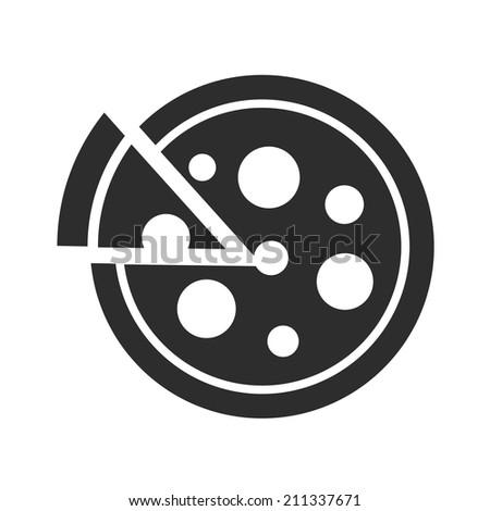 Pizza Black Icon - stock vector