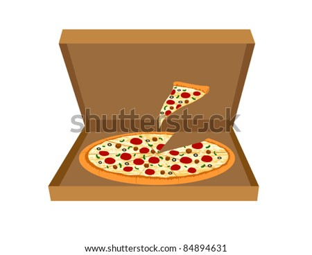 Pizza Delivery - Supreme Pizza Vector Illustration. (high resolution JPEG also available). - stock vector