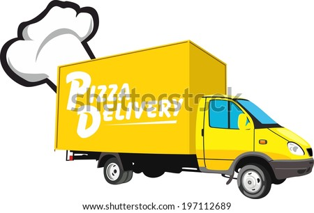 Pizza delivery transport - stock vector