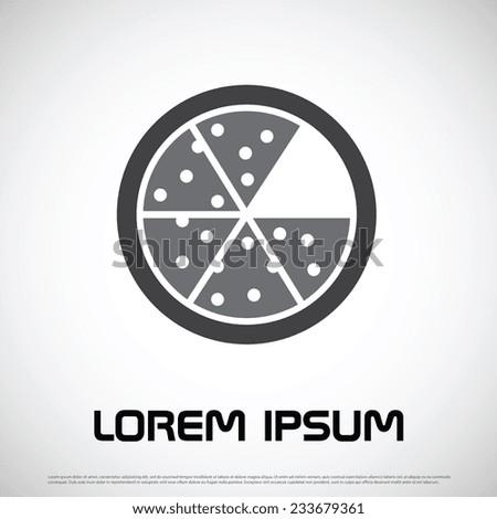 Pizza icon design - stock vector