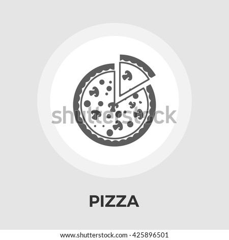 Pizza icon vector. Flat icon isolated on the white background. Editable EPS file. Vector illustration. - stock vector