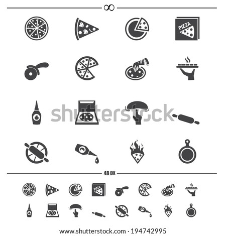 Pizza icons.vector eps10 - stock vector
