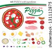 pizza ingredients - stock vector