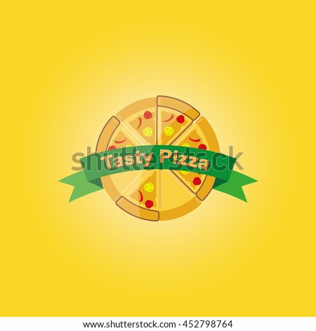 Pizza Logo Symbols Fast Food Restaurant Stock Vector Royalty Free