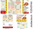 Pizza restaurant stationary - brochure design, flyer design and business card design in one package and fully editable. - stock photo