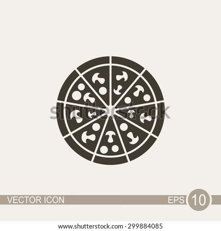 Pizza vector icon. - stock vector