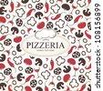 Pizzeria menu design - stock vector