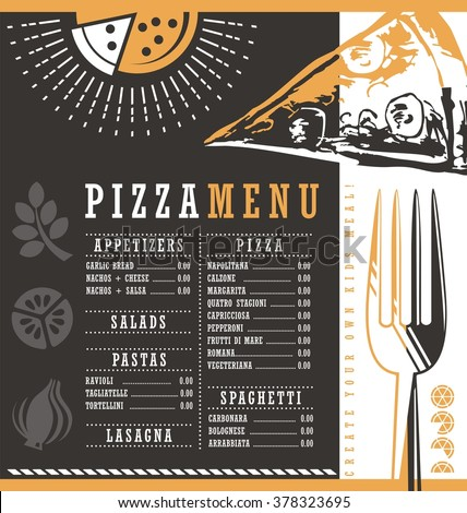 Menu Cafe Restaurant Bar Price List Stock Vector 421486150