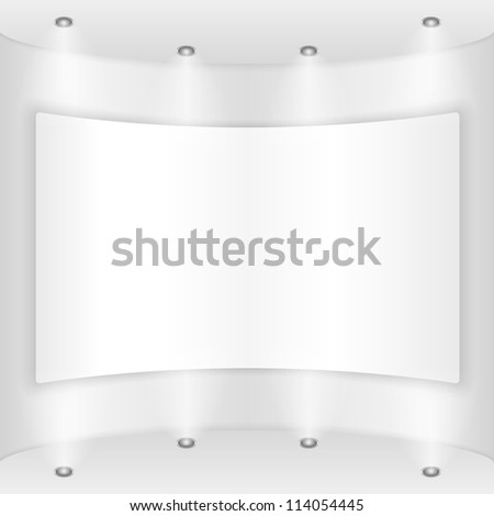 Placard on a round wall, vector eps10 illustration - stock vector
