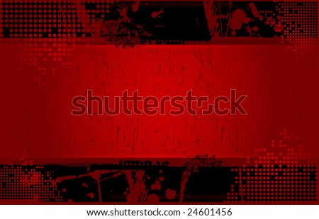 Placard with banner in dark street style 4 - stock vector