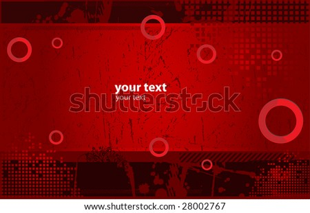 Placard with banner in dark street style - stock vector
