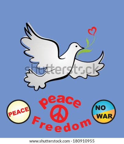 Placard with peace symbolic - stock vector