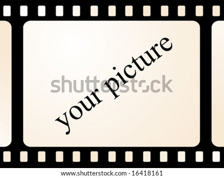 Place on your photo on old movie film