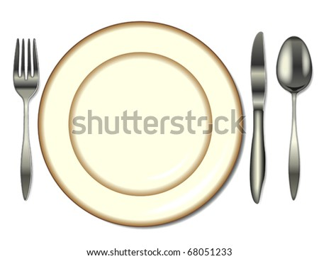 Place Setting - stock vector