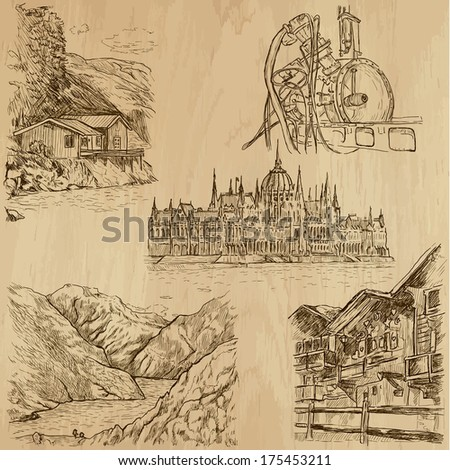 Places and Architecture around the World (no.19)  - stock vector