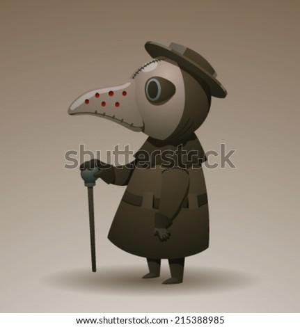 plague doctor, vector - stock vector