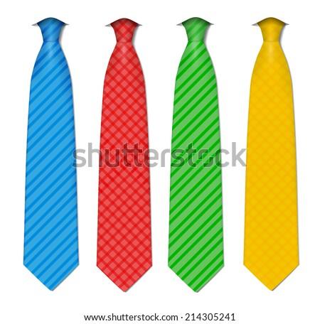 Plaid, checkered silk ties template. Easy editable colors - vector. - stock vector