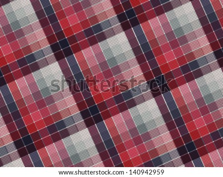 Plaid fabric texture, vector background. - stock vector
