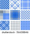 Plaid patterns - stock photo