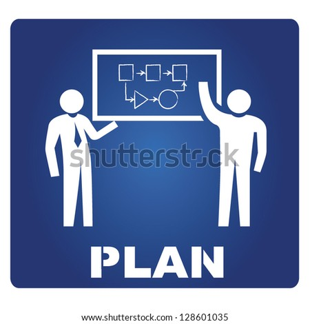 plan, vector - stock vector