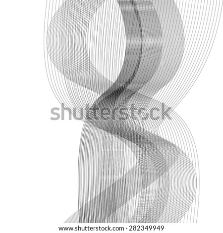 Plane abstract geometric background with curves - stock vector