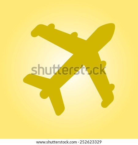 Plane icon. Travel simbol. Airplane plane from the bottom sign. - stock vector