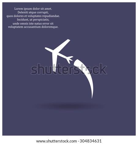 plane. icon. vector design - stock vector