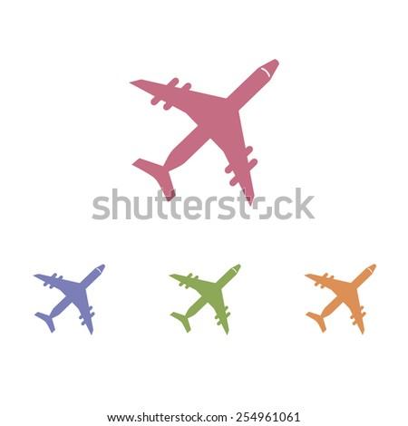 Plane icons - stock vector