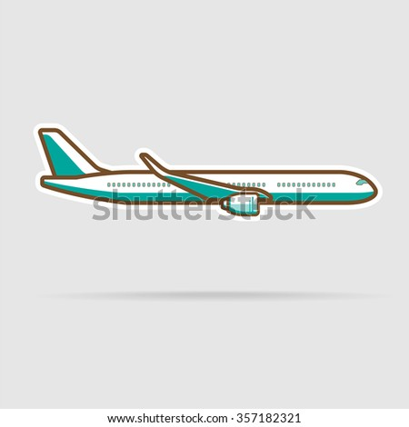Plane, transportation vehicles, Flat style vector illustration - stock vector
