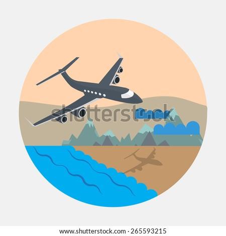 Plane. Vector design. EPS10  - stock vector