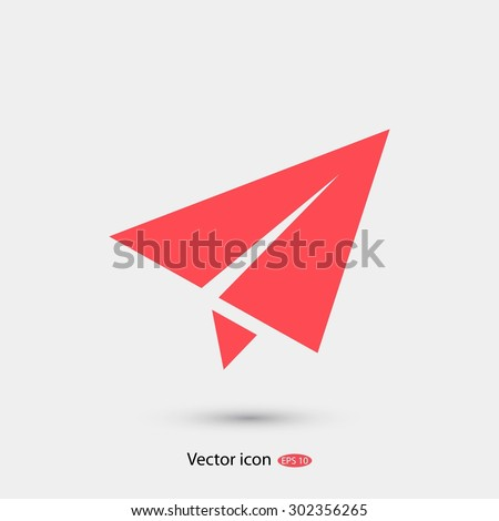 plane vector icon - stock vector