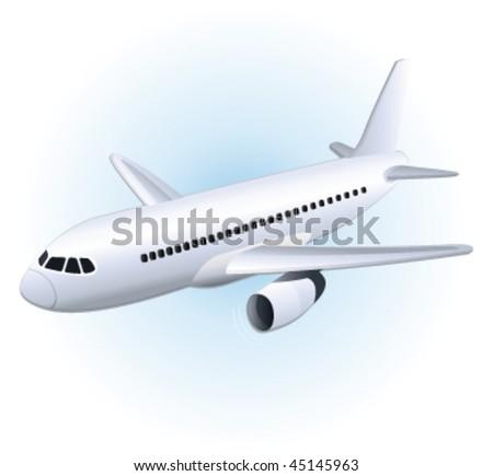 Plane. Vector illustration. - stock vector