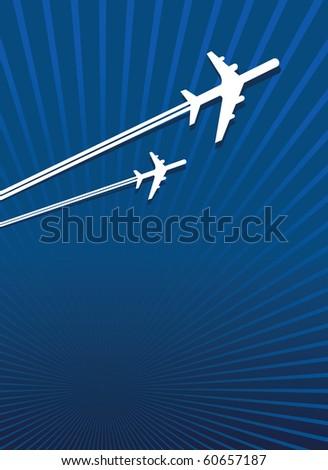 planes flying - stock vector